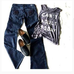 PAIGE Laurel Canyon Dark Wash Jeans